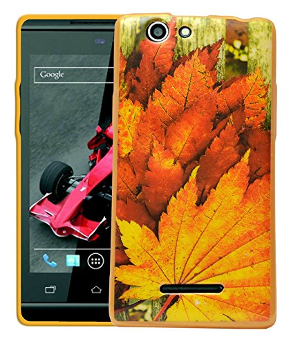 ECellStreet Printed Back Case Cover For Xolo A500s - Leaf  available at amazon for Rs.189