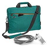 PEDEA Notebooktasche 'Fashion' für 17,3 Zoll (43,9cm) mit Zubehörfach, Schultergurt und Notebookschloss, türkis