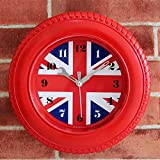 Sécurité et tranquillité d'esprit Drapeau Vintage Horloge, Britannique Londres Drapeau Table Bureau Alarme Horloge Lumineuse Horloge Horloge Murale Union Américaine Jack Horloge Décoration de La Maiso