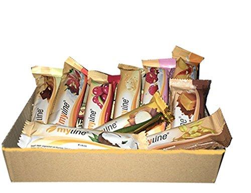 Inko Myline Sample Box Protein Eiweiß L-Carnitin 10 Riegel à 40g (6 Geschmäcker Zufallsmix) -