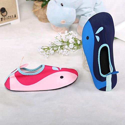 Sibba chaussons de plage, chaussons de surf, multi-forme et multicolore Rose