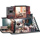 DIY kleines Haus und Mini Haus Puppenhaus Kit DIY Puppenhaus Pink Cafe Mode Trendy Kabine DIY Cottage