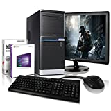 "Komplett PC-Paket Entry-Gaming / Multimedia COMPUTER mit 3 Jahren Garantie! | Quad-Core! AMD A8-7600 4 x 3800 MHz | 8192MB DDR3 | 1000GB S-ATA II HDD | AMD Radeon R7 720 4096 MB HDMI/VGA mit DirectX11 Technology | USB3 | DVD±RW | Windows10 Professional 64-Bit | 24"" LED TFT Monitor 