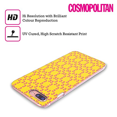 Official Cosmopolitan Love Logo Hard Back Case for Apple iPhone X Pink Pattern 2