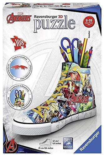 Ravensburger Marvel Comic Book Sneaker - Puzzle de 108 Piezas, 3D