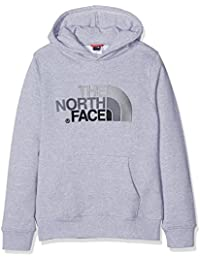 The North Face Drew Peak, Sudadera para Niños, Gris (Grey), 92 (Tamaño del Fabricante:XS)