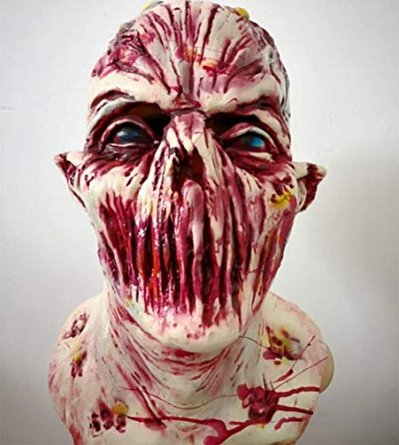 M&M Horror Maske, Zombie-Maske, Latex Biochemische Monster-Maske Anzug Kostüm Party Halloween
