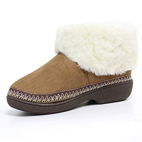 LADIES SLIPPERS WOMENS LUXURY WARM THERMAL BOOTS ANKLE BOOTIE WINTER FUR SHOES...