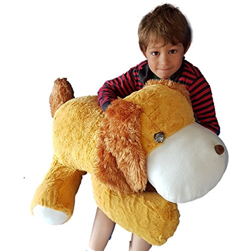 "Huge Giant Extra Large Dog Push Soft Toy 90cm 36"" (Brown)"