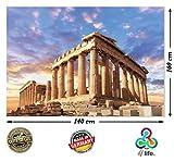PMP-4life XXL Poster Akropolis in Athen | 140x100cm | hochauflösendes XXL Fotoposter Griechenland, Wandfoto Extra groß, XL Wand-Bild| Wanddeko Bild Parthenon Tempel Antik