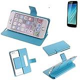 Flipcover Schutz Hülle für Allview P6 Lite, blau