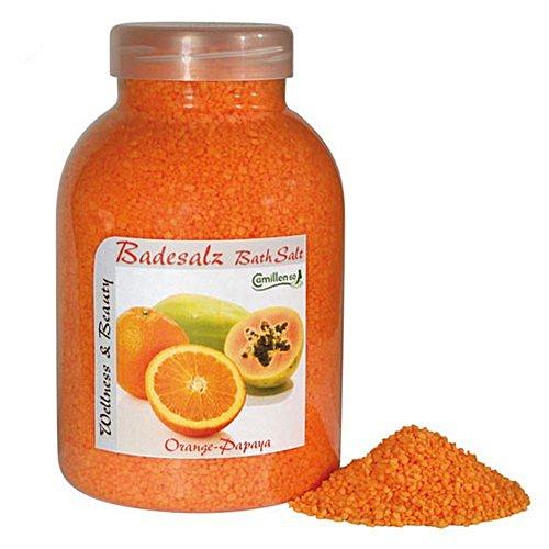 Badesalz Orange, Papaya, Camillen 60, Fussbad Badezusatz für die Füsse, mit Fruchtextrakt, 1350 g