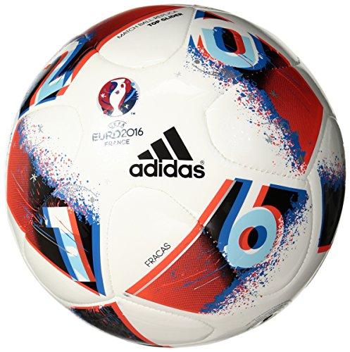 adidas Performance Euro 16Top Glider Fußball, Weiß/Bright Blue/Solar rot/Silber metallic, White/Bright Blue/Solar Red/Silver Metallic (Euro Glider Fußball-ball)