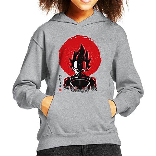 Vegeta Sun Poster Dragon Ball Z Kid's Hooded Sweatshirt