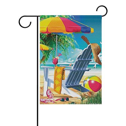 ALAZA Dekoration, doppelseitiger Strandstuhl und Regenschirm, Gartenhaus, Hof, Flagge, Ball- und...