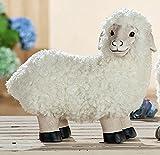 Schaf Hilde stehend 34 cm Magnesia/Textil (G36242) Lamm Gartenfigur Osterdeko