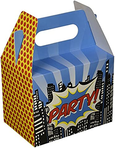 Ginger Ray Pop Art Superhero Party Boxes x 5