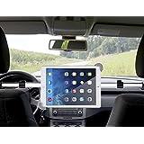 Koiiko portátil universal ajustable 360Degree rotación de coche extensión centrado 2-Post reposacabezas estilo asiento trasero soporte, coche asiento trasero giratorio soporte para visualización de abrazadera para 7A 11Inch Tablet