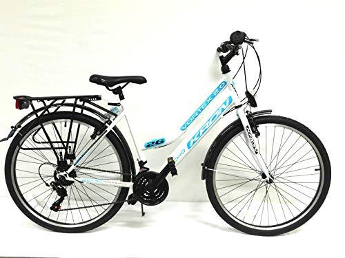 """KRON 26"""" Zoll Fahrrad Damenfahrrad Mädchenfahrrad Citybike 21 Gang Shimano NEU"""