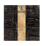 Ursus 40870012 - Scrapbook paper Vintage, ca. 30,5 x 30,5 cm, 5 Blatt, Zeitung