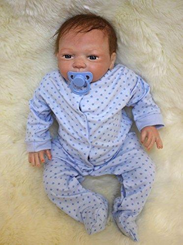 """ZIYIUI 52 cm Reborn Baby Dolls 20 """" Suave Vinilo de Silicona Reborn Lifelike Bebé Recién Nacido Regalo de Juguete Bebe"""