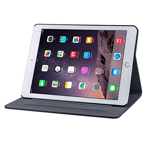 Gecko Covers Apple iPad Air 2 Hülle Easy-click - Schwarz - Multifunktionelle Tasche bietet Schutz und Multimedia-Komfort / Cover mit Präsentationsfunktion - Tablethülle geeignet für Apple iPad Air 2 A1566 / A1567 - Multimedia-tasche