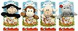 Geschenkidee Plüschtiere - Kinder Maxi Mix Plüschtier, Unsortiert, 4er Pack (4 x 133 g)