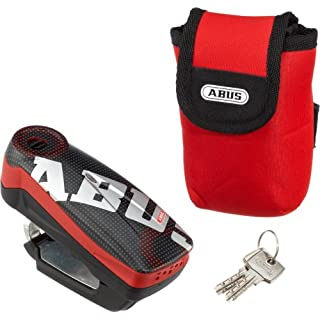 Abus Detecto 7000 RS1 Motorbike Brake Disc Lock with Clip 50 x 100 mm Pixel Red