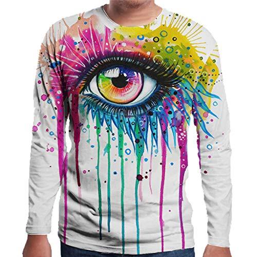 Zolimx Lässige Sweatshirts 3D-Druck Lose Pullover Für Herren Männer Casual 3D Printed Langarm Rundhals New Style Shirt Bluse Tops