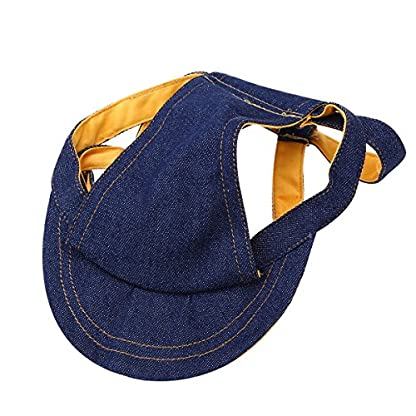 UEETEK Pet Dog Puppy Baseball Cap Visor Hat Sunhat Adjustable Chin Strap Sunbonnet 7