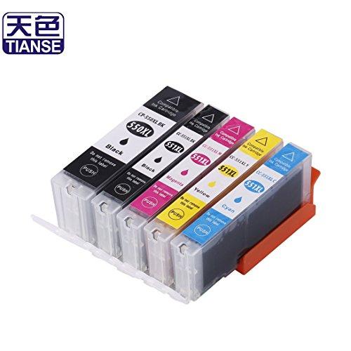 Swiftswan 5pcs Tintenpatrone für PLXMA IP-7250/8750 / MX-925/725 IX6850 Drucker Nicht-OEM