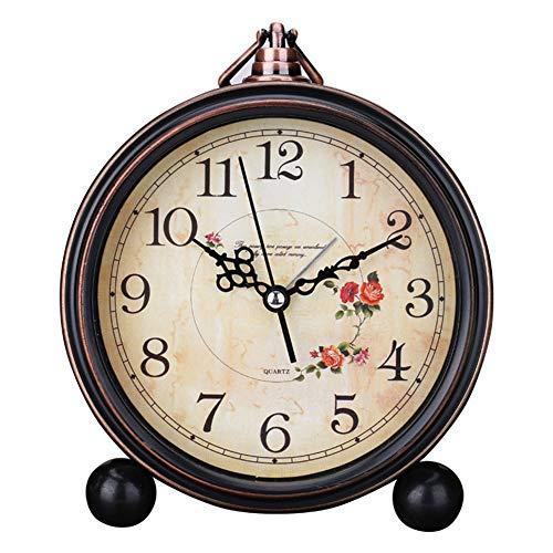 Reloj Alarma Números Romanos Cuarzo Operado batería