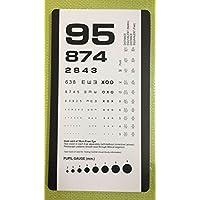 Critique) Poche Eye Chart avec échelle