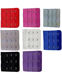 10 pcs Assorted Colors Women 3-Hook 3 Rows Spacing Bra Extender Strap