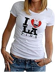 Tee-shirt femme Lapins Crétins - M - Blanc