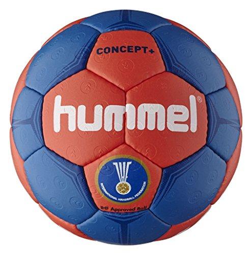 Hummel Erwachsene Handball CONCEPT PLUS, Imperial Blue/Fiery Coral, 3, 91-787-8568