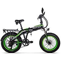 RICH BIT Vélo Tout Terrain électrique 500W 48V 10AH Gros Pneu 20''x 4.0'' Complète et LCD Intelligent