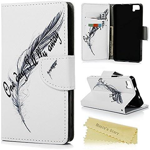 bq Aquaris M5 Funda Libro de Suave PU Leather Cuero - Mavis's Diary® Case Con Flip Case cover,Cierre Magnético,Función de Soporte,Billetera con Tapa para Tarjetas-Diseño de
