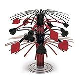 Ornamento da tavola con frange tema Las Vegas Decorazione per tavolo motivo carte da gioco 19 cm Cascata Centrotavola per feste stile casinò Gadget per tavolino festa Addobbo per tavolo stile gioco d'azzardo Accessori per serata poker