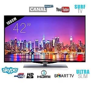 """TV LED TELEFUNKEN 106 cm 42"""" SMART TV Full HD Slim"""