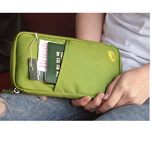 Preisvergleich Produktbild Reise Tasche Ausweise Kreditkarten Organizer kartenorganizer Reisetasche 3 Farben (grün)