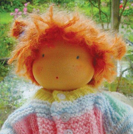 Puppentrikot fein, hautfarbig für Kuschelpuppen, 25x 80 cm - Baumwoll-mohair-garn