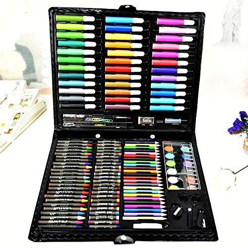 Mal- und Zeichenset, für Kinder, Malstifte, 150 Stück, Ölpastellkreide und Acrylfarben, Künstler-Sets, Aquarellstift, Geschenk-Box