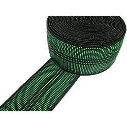 Pandoras Upholstery - Cincha para tapicería (10 m, elástica), color verde