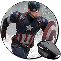 Capitan America Captain America Chris Evans C Alfombrilla Redonda Round Mousepad PC