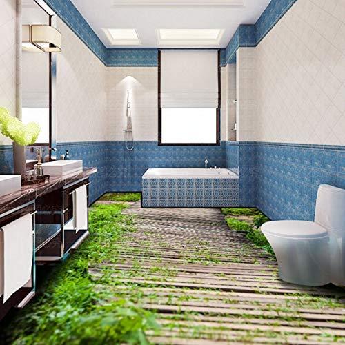 Lxsart Bodenaufkleber 3d stereo gewächshaus holz benutzerdefinierte bad wohnzimmer schlafzimmer boden aufkleber tapete wandbild-400cmx280cm