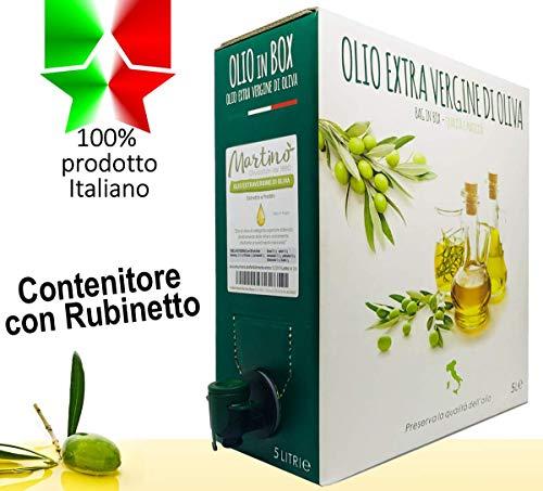 5 litri di 100% italiano olio extravergine di oliva - contenitore oil box con rubinetto