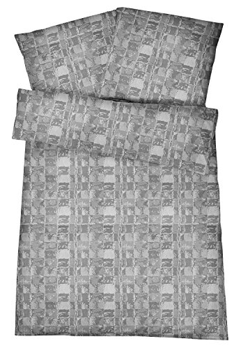 Damast Bettwäsche 135×200 cm – Klassische Bettbezüge mit Muster aus 100% Baumwolle – Edle & Moderne Bettwaren-Garnitur
