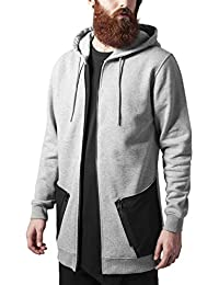 Urban Classics Long Peached Tech Zip Hoody, Sudadera para Hombre