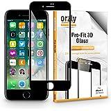 Protector de Pantalla iPhone 7, 3D Pro-Fit Protector de Prima de Cristal Templado de Orzly® [Protección completa de la pantalla para el iPhone 7 - NEGRO [Bordes curvados 3D para mejor ajuste]